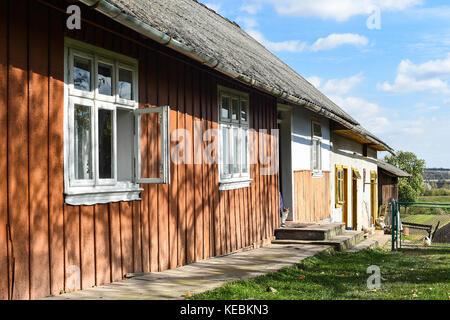Voroblevychi village, Drohobych district, Western Ukraine - October 14, 2017: An old house, rural life, series around - Stock Photo