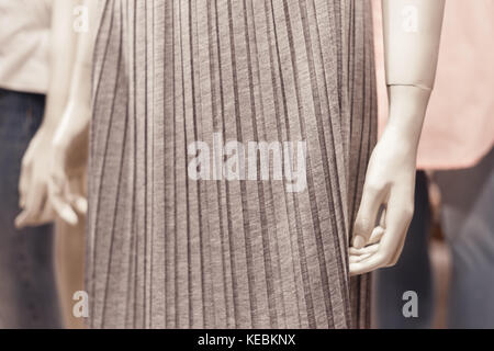 Close up view of mannequin body part inside a fashion house. - Stock Photo