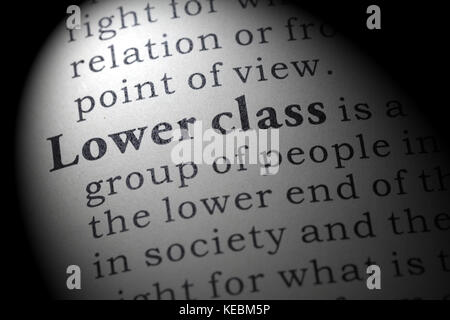 Fake Dictionary Dictionary Definition Of The Word Lower Class Stock