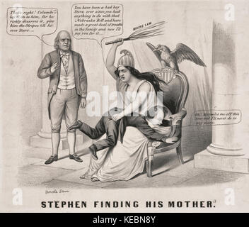 Stephen finding his mother -  Northern Democratic presidential candidate Stephen A. Douglas was widely criticized - Stock Photo