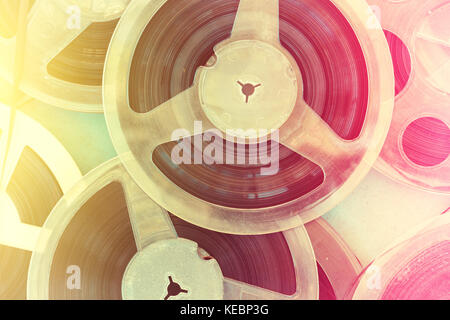 Abstract retro composition from tape record - Stock Photo