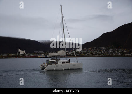 Tromso,Norway,19th October 2017,Overcast in Tromso, Norway©Keith Larby/Alamy Live News - Stock Photo