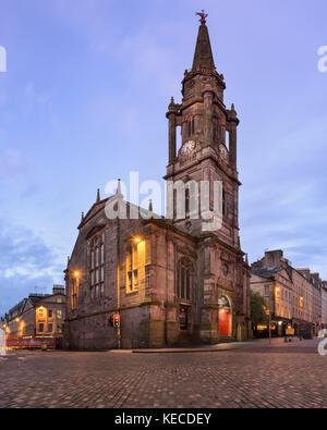 EDINBURGH, UNITED KINGDOM - SEPTEMBER 12, 2017: Tron Kirk in the Morning, Edinburgh, Scotland. The Tron Kirk is - Stock Photo