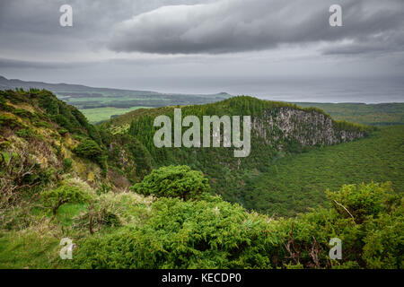 On Top of Volcano crater in Azores islands, Terceira 2 - Stock Photo