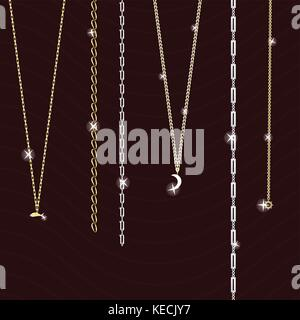 jewelry on a dark background - Stock Photo