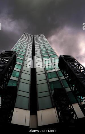 Meridian Gate, A Radisson Blu Hotel, on Bute Terrace. It stands 207 feet tall. Cardiff. - Stock Photo