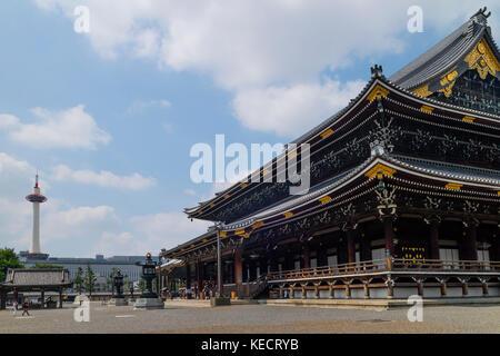Kyoto, Japan -  May 23, 2017: Higashi Honganji's Goeido temple,the head temple of the Otani faction of Jodo-shin - Stock Photo