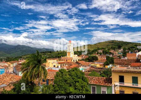 A Cityscape of Trinidad in Cuba - Stock Photo