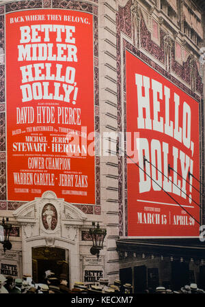 Hello Dolly Broadway theater marquee NYC - Stock Photo