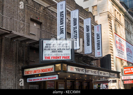 Front Page theater marquee NYC - Stock Photo