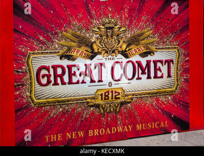 The Great Comet of 1812 Broadway theater marquee NYC - Stock Photo