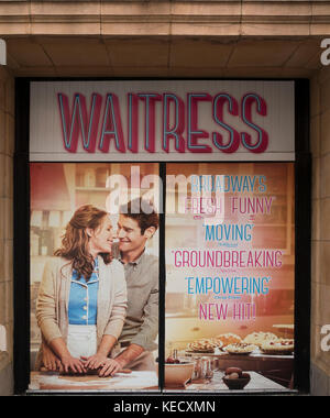 Waitress Broadway theater marquee NYC - Stock Photo