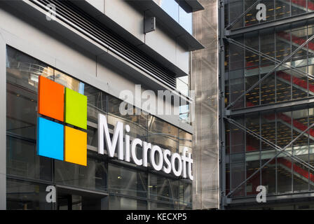 Microsoft store fifth avenue NYC - Stock Photo