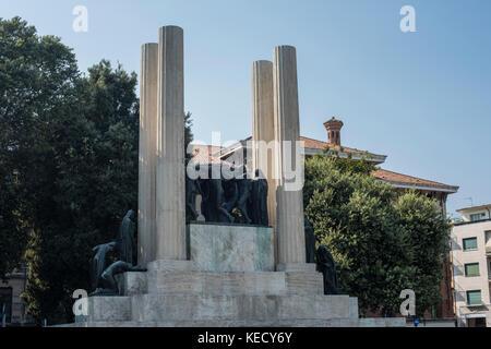 Monument to the Fallen, Victory Square, Treviso, Veneto - Stock Photo