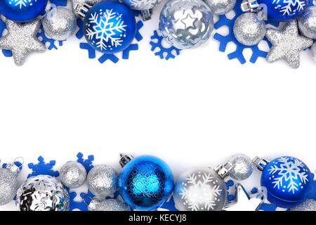 Blue And Silver Christmas Tree Ornaments