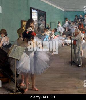 The Dance Class, Edgar Degas, 1874, Metropolitan Museum of Art, Manhattan, New York City, USA, North America - Stock Photo