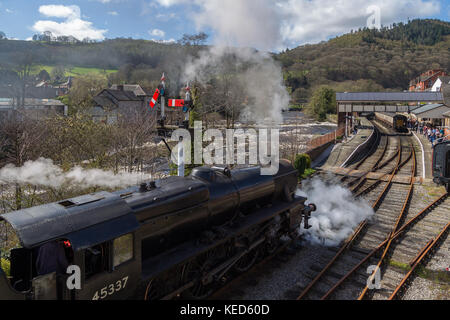 Locomotive, Llangollen railway - Stock Photo
