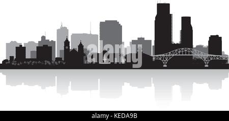 Corpus Christi Texas city skyline vector silhouette illustration - Stock Photo