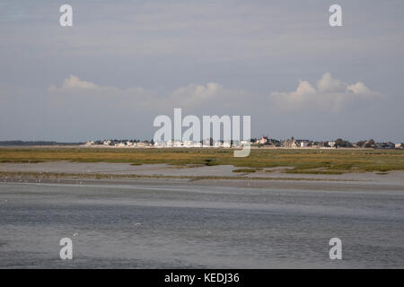 Le Crotoy seen from St Valery sur Somme, Picardy, France - Stock Photo