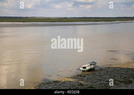 The Somme Estuary at St Valery sur Somme, Picardy, France - Stock Photo
