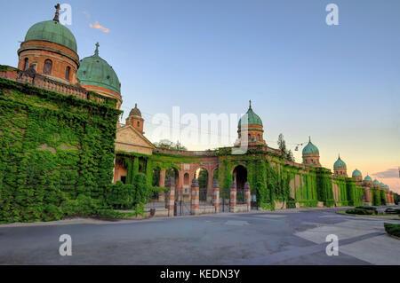 ZAGREB CROATIA 29 June 2017: Exterior of Mirogoj Cemetery on June 29th, 2017, in Zagreb, Croatia. - Stock Photo