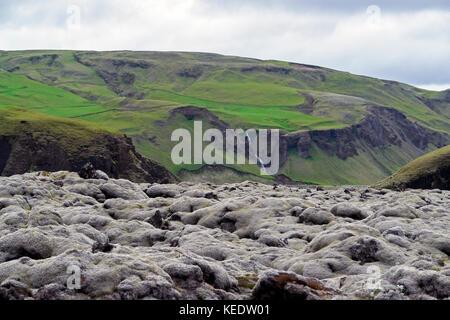 Eldhraun Lava Field - Southern Iceland - Stock Photo