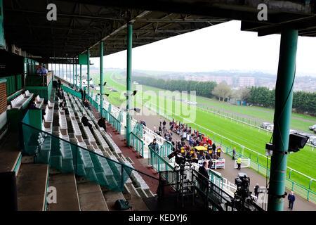 October racing Brighton Racecourse East Sussex - Stock Photo