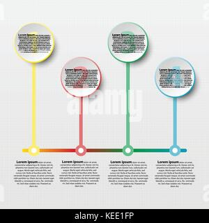 Coloful paper circle with colorful line for website presentation cover poster vector design infographic illustration - Stock Photo