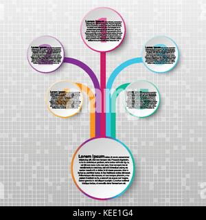 Paper circle with colorful edge from coloful line for website presentation cover poster vector design infographic - Stock Photo