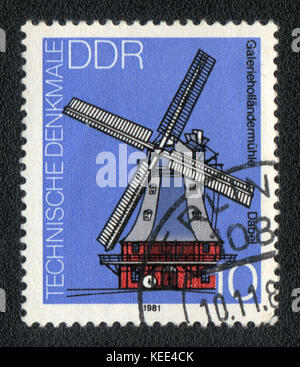 A postage stamp printed in DDR shows The mill, circa 1981