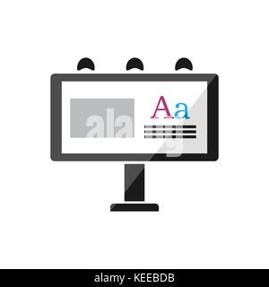Billboard publicity icon on a white background. Vector illustration Stock Photo
