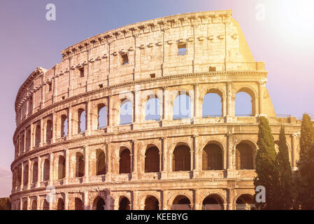 Sunrise Colosseum in Rome, Italy - Stock Photo