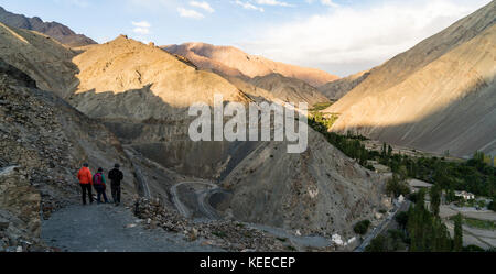 View of the Himalaya mountain range in Ladakh, India - Stock Photo