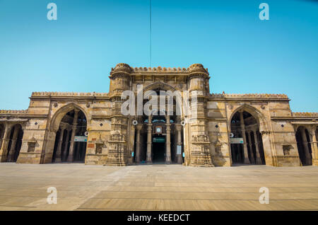AHMEDABAD, INDIA - NOVEMBER 27, 2016: Jama Mosque or Juma Masjid, an ancient islamic architecture in heritage city - Stock Photo