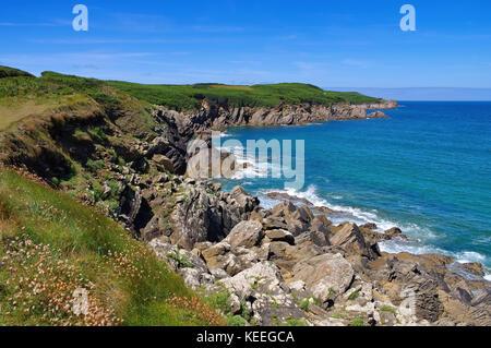 Pointe de Kermorvan in Brittany, France - Stock Photo