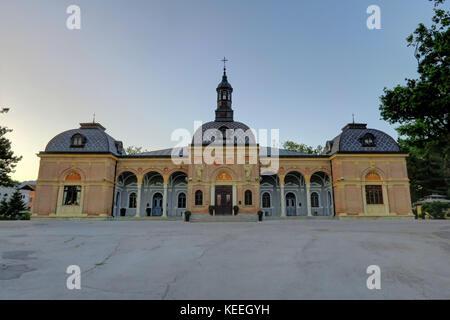 ZAGREB CROATIA 29 June 2017: Mirogoj Cemetery on June 29th, 2017, in Zagreb, Croatia. - Stock Photo