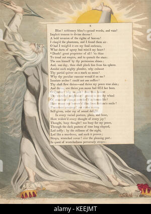 William Blake   Young's Night Thoughts, Page 8,  Death! Great Proprietor of All! - Stock Photo