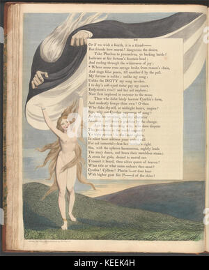 William Blake   Young's Night Thoughts, Page 46,  Where sense runs savage broke from reason's chain - Stock Photo