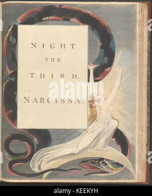 William Blake   Young's Night Thoughts, Page 43,  Night the Third, Narcissa. - Stock Photo