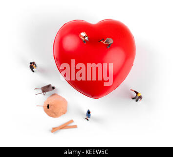 heart health and treatment concept - Stock Photo