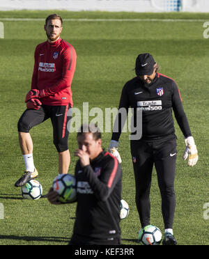 Sotogrande, Spain. 20th Oct, 2017. Madrid, Spain. 20th Oct, 2017. Atletico Madrid's goalkeeper Jan Oblak, during - Stock Photo