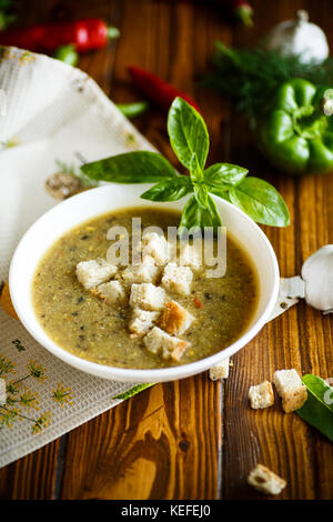 soup puree from various vegetables and mushrooms - Stock Photo