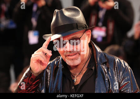 VENICE, ITALY - SEPTEMBER 11: Vasco Rossi attends a premiere for 'Il Decalogo Di Vasco' during the 72nd Venice Film - Stock Photo