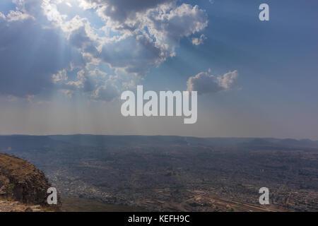 View to the city of Lubango. Angola. - Stock Photo