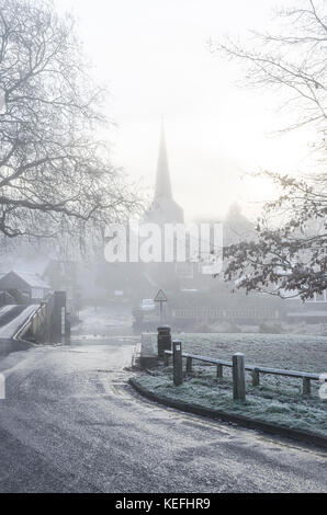Eynsford winter by the Ford - Stock Photo