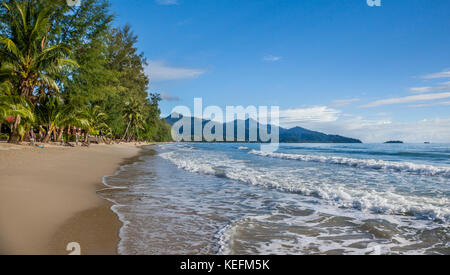 Thailand, Trat Province, Koh Chang Island in the Gulf of Thailand, West Coast, gentle surf at Ao Klong Phrao Beach - Stock Photo