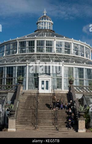 Palm House or Palmehus, greenhouse in the Botanic Gardens, Copenhagen, Denmark, Europe - Stock Photo