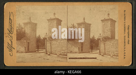 City gate. St. Augustine, Fla, from Robert N. Dennis collection of stereoscopic views - Stock Photo