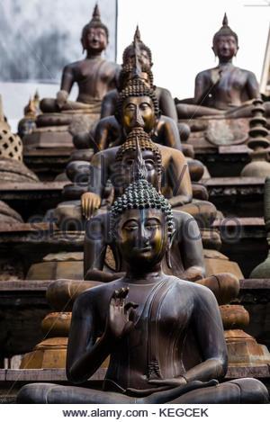 Gangaramaya Buddhist Temple,, Colombo, Sri Lanka. - Stock Photo