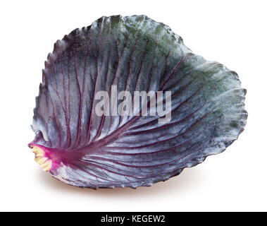 red cabbage leaf path isolated - Stock Photo